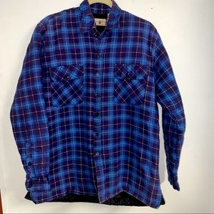 Vintage Northwest Territories heavy flannel M